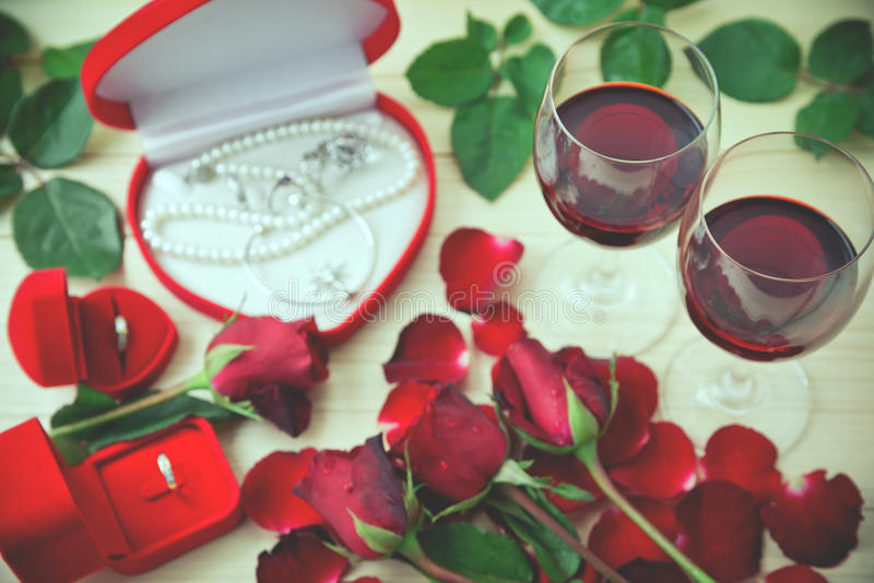 La vie toujours des verres de vin photo libre de droits