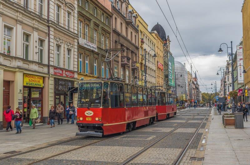 La vieille architecture de ville de Katowice, Pologne photo stock