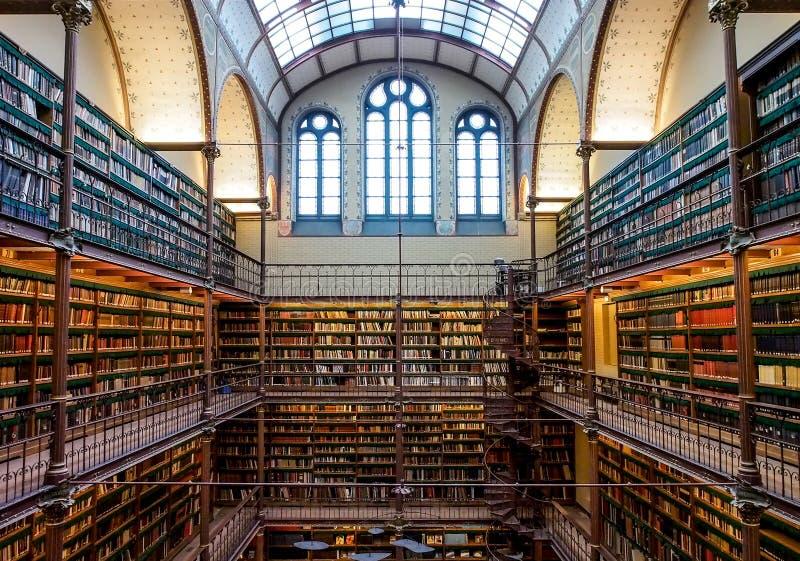 La vieille bibliothèque de Rijksmuseum, Amsterdam photos stock
