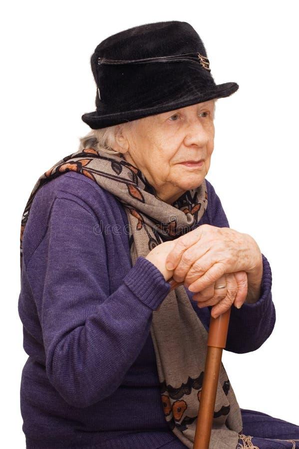 La vieille dame triste photo libre de droits