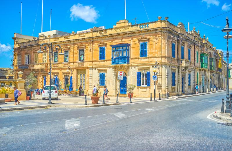 La vieille maison résidentielle maltaise dans Mosta photographie stock libre de droits