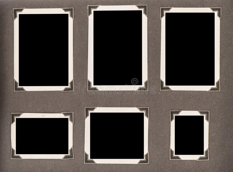 La vieille page d'album photos accule la texture de papier utilisée photographie stock libre de droits