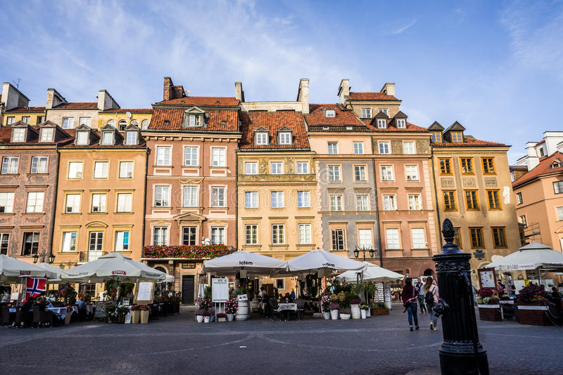 La vieille place du marché de ville à Varsovie images libres de droits