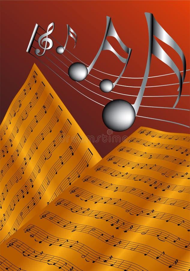 La vieille rayure musicale illustration libre de droits