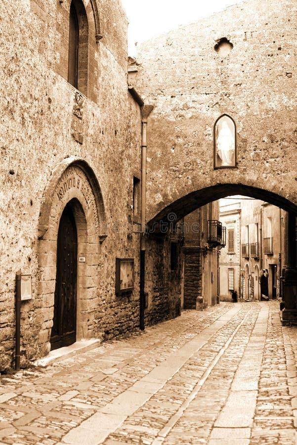 La vieille Sicile, ville d'Eriche photo libre de droits