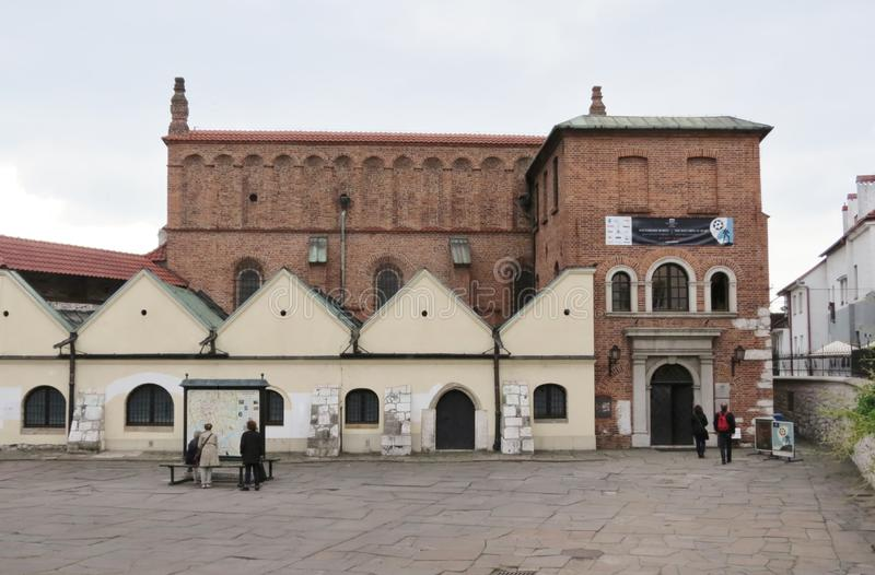 La vieille synagogue, Cracovie photographie stock libre de droits