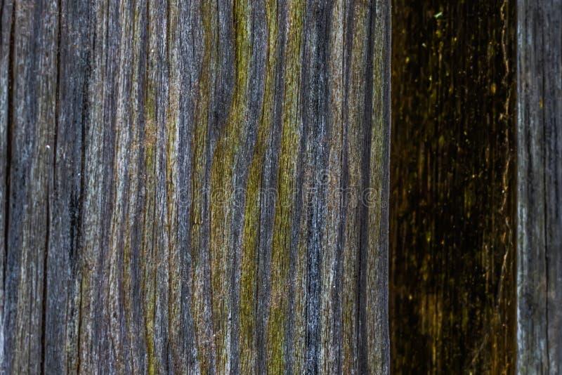 La vieille texture en bois avec les modèles et les fissures naturels sur la surface comme fond Obscurcissez du centre images libres de droits