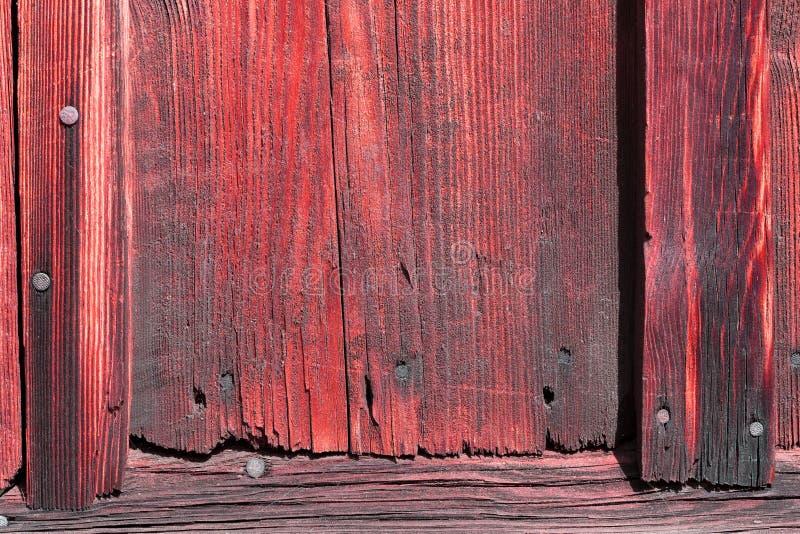 La vieille texture en bois rouge avec les modèles naturels photographie stock