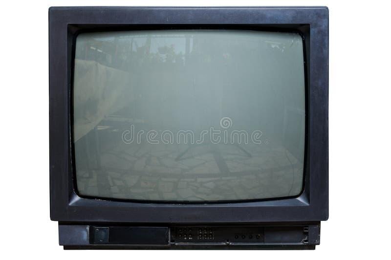 La vieille TV sur d'isolement photographie stock