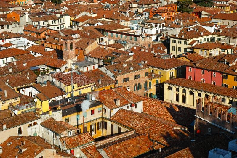 La vieille ville couvre la vue aérienne image libre de droits