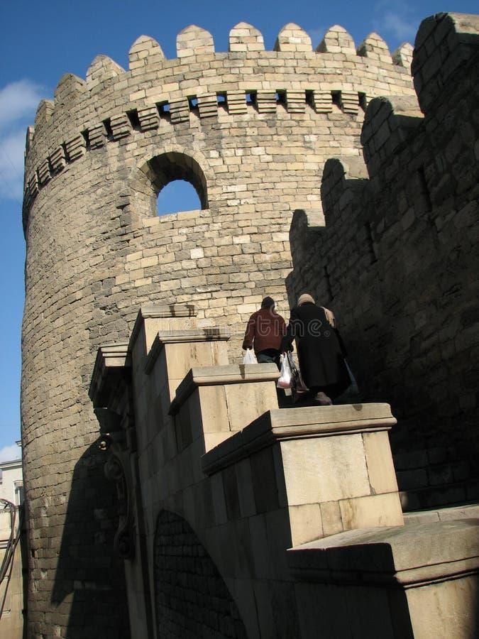 La vieille ville de Baku Azerbaijan photo libre de droits