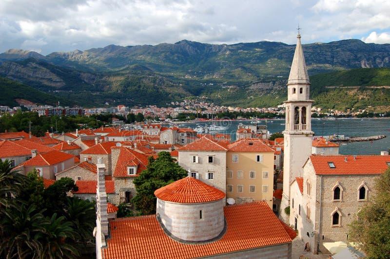 La vieille ville de Budva, Monténégro photo libre de droits