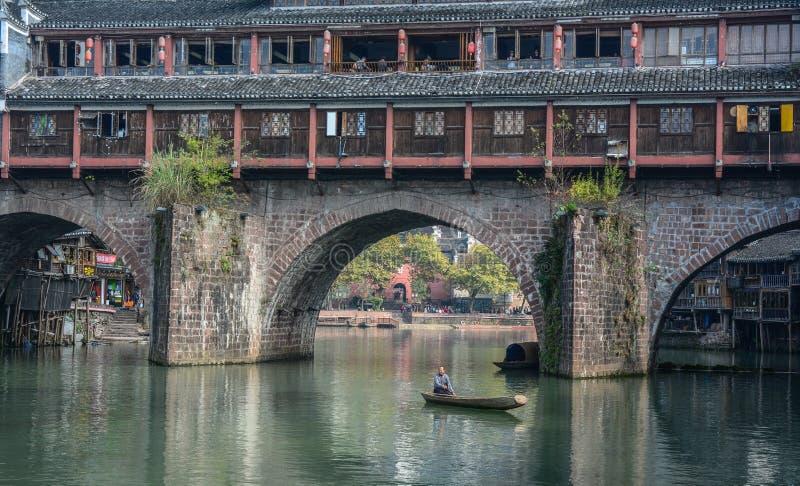 La vieille ville de Fenghuang à Hunan, Chine images stock