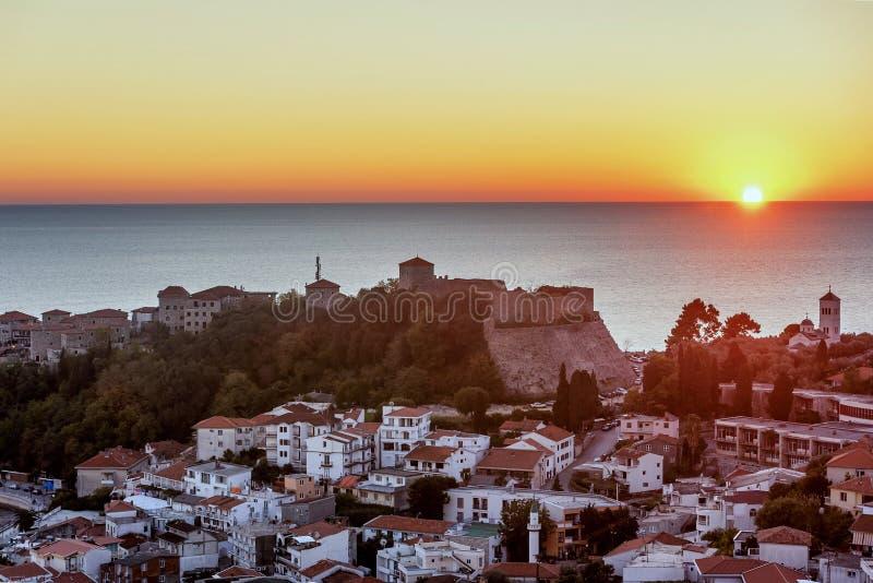 La vieille ville diplômé de Stari d'Ulcinj de ville '', Monténégro photos stock
