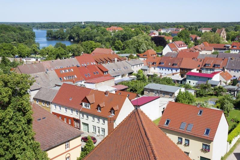La vieille ville historique de Templin, Allemagne de l'Est photos libres de droits