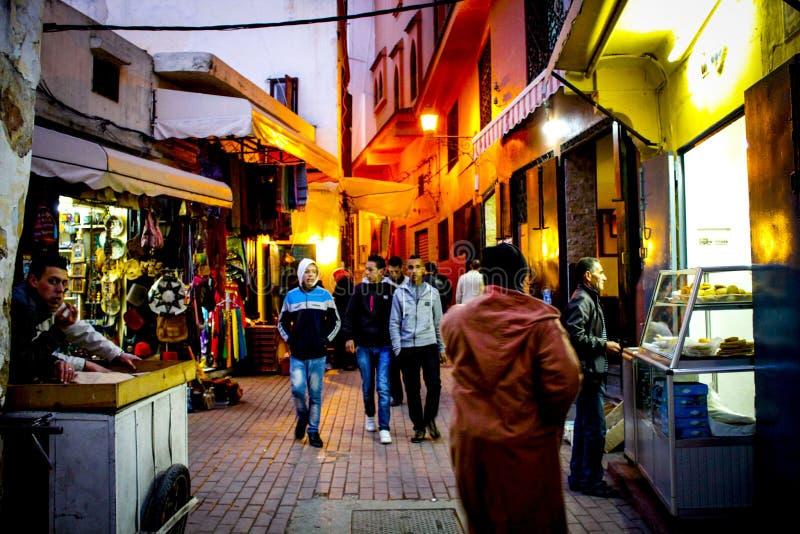 La vieille ville Tanger du Maroc images libres de droits