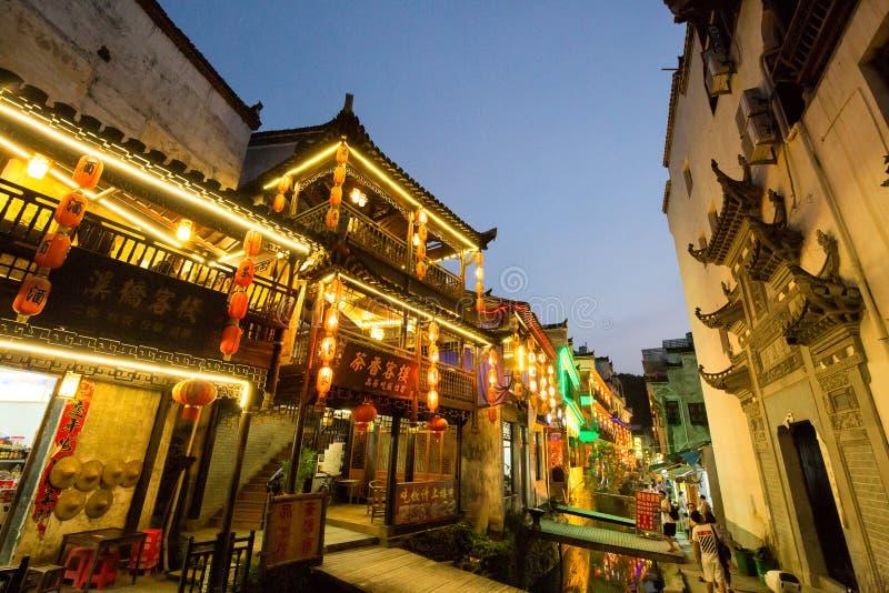 La vieja arquitectura y la mayoría del pueblo hermoso de China llaman el pueblo de Likeng del ` en el ` de Wuyuan rural de China imagenes de archivo