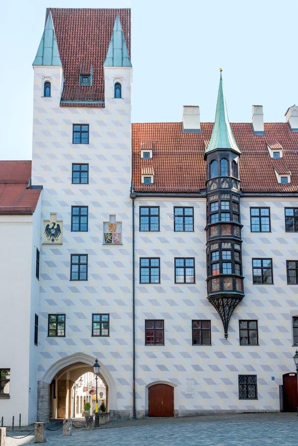 La vieja corte del siglo XII en Munich, Alemania fotografía de archivo
