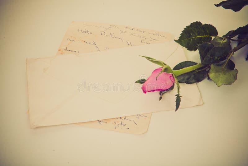 Letra de amor fotografía de archivo