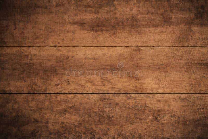 La vieja oscuridad del grunge texturizó el fondo de madera, la superficie de la vieja textura de madera marrón, revestimiento de  imagenes de archivo