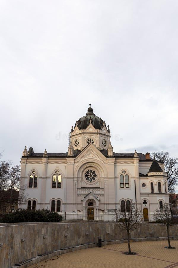 La vieja sinagoga en Szolnok, Hungría imagen de archivo