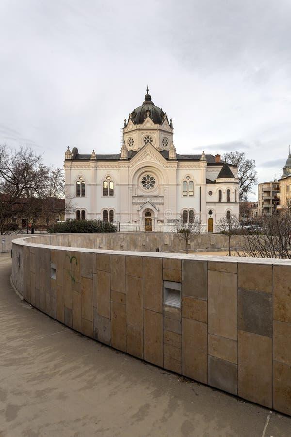 La vieja sinagoga en Szolnok, Hungría fotografía de archivo