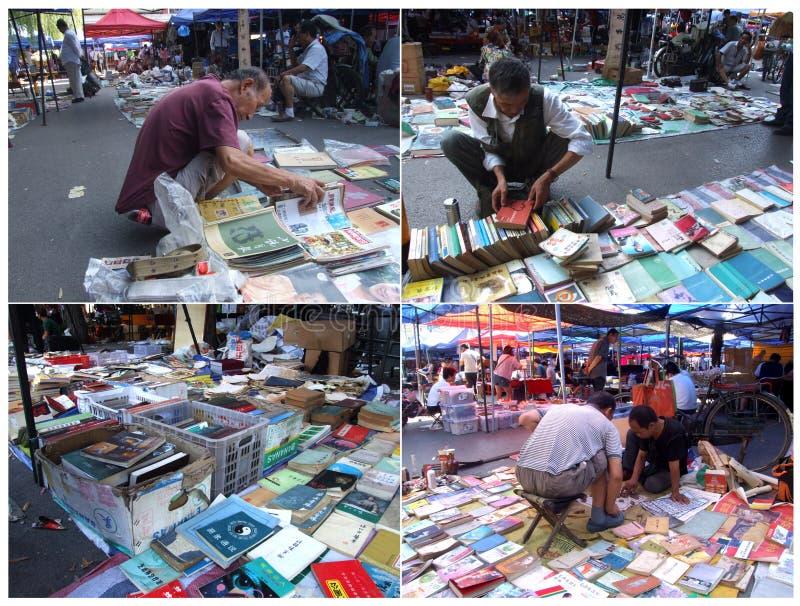 La vieja versión del mercado del libro fotos de archivo