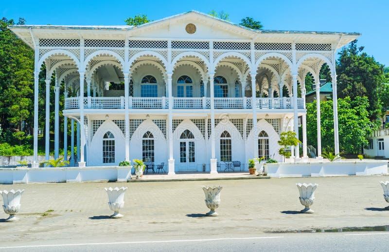 La villa bianca fotografie stock