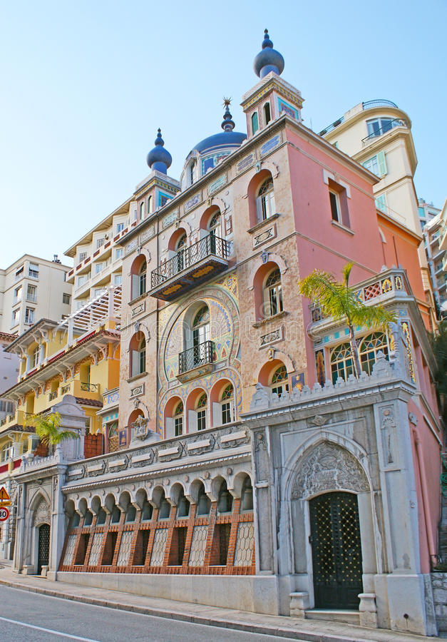 La villa Danichgah di stile di moresco nel Monaco immagini stock