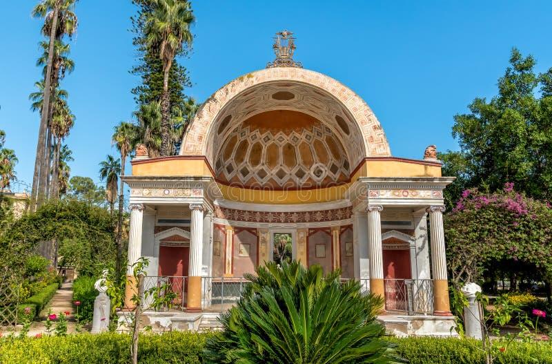 La villa Giulia del giardino pubblico a Palermo, Sicilia fotografie stock