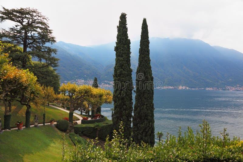 La villa sul lago Como immagini stock libere da diritti