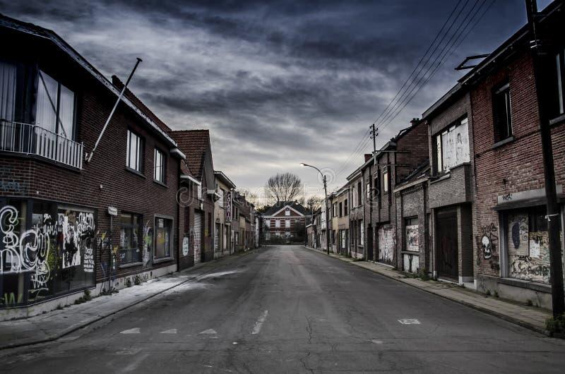La ville abandonn e en belgique image ditorial image du for Prix de la construction belgique