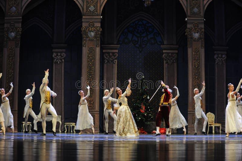 La ville allemande du casse-noix de ballet de partie-Le de Noël de famille de Nuremberg Shug Tal Bam images libres de droits