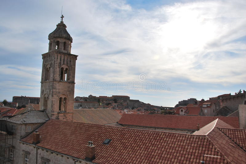 La ville antique de Dubrovnik image stock