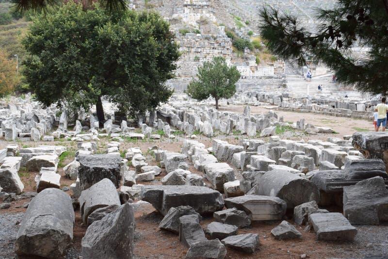 la ville antique de l'ephesus photo stock