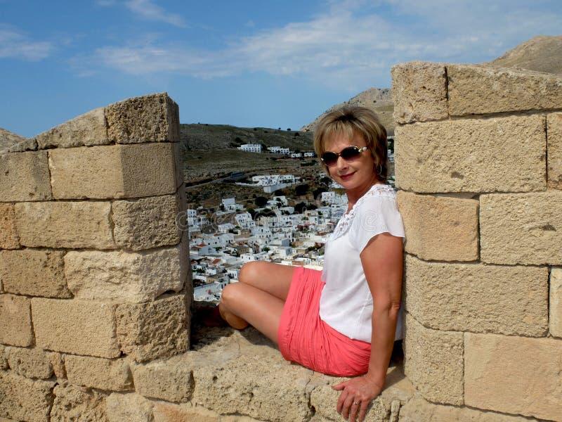 La ville antique de Lindos photo stock