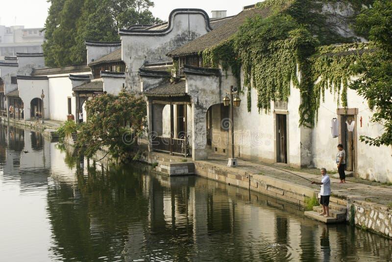La ville antique de Nanxun, Huzhou, Zhejiang, Chine photographie stock