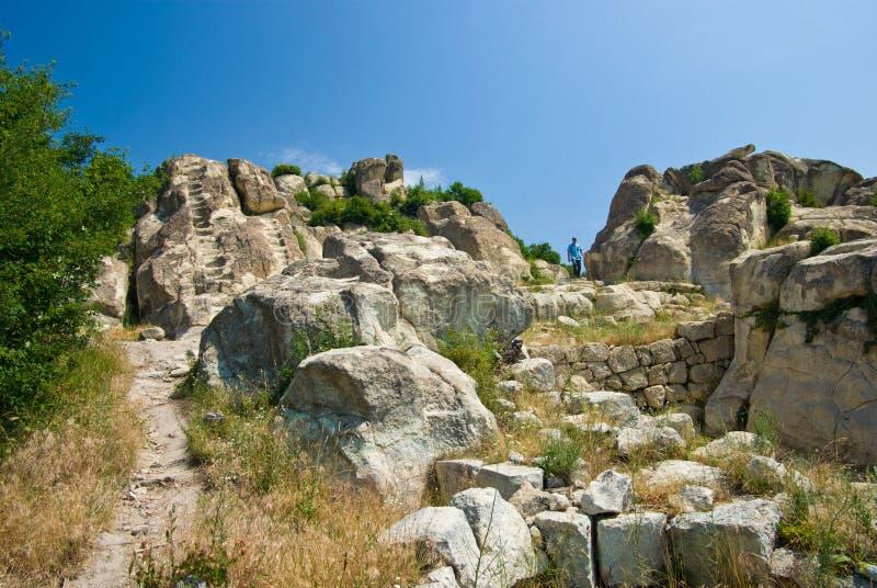 La ville antique de Thracian de Perperikon photos stock