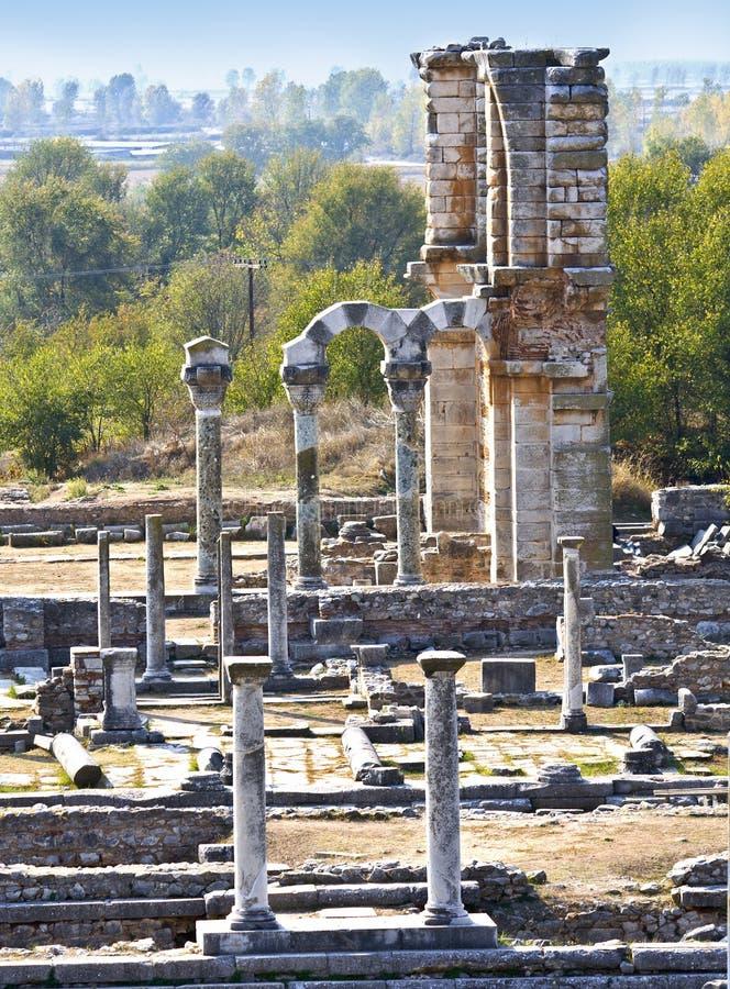 La ville antique reste en Grèce photographie stock libre de droits