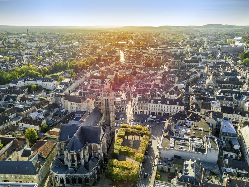 La ville avec du charme a appelé Compiegne, Hauts-De-France, Frances photographie stock