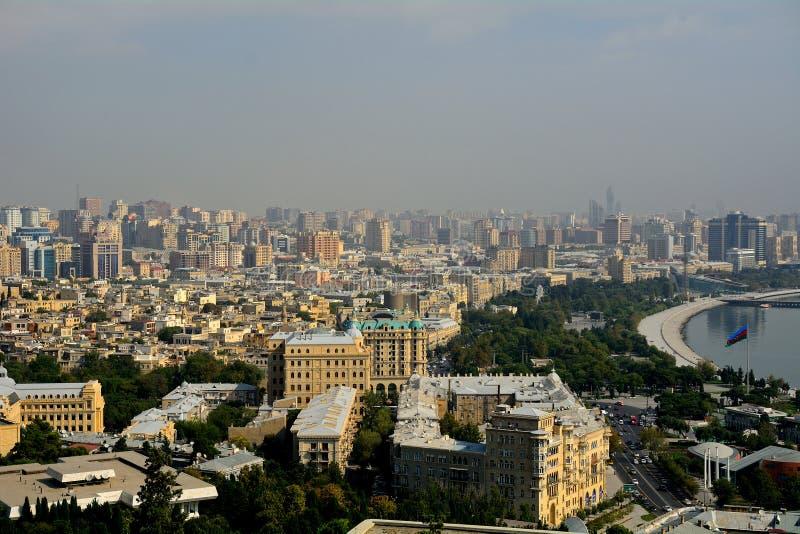 La ville, Bakou, Azerbaïdjan images libres de droits