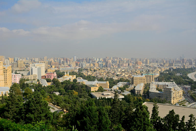 La ville, Bakou, Azerbaïdjan photos libres de droits