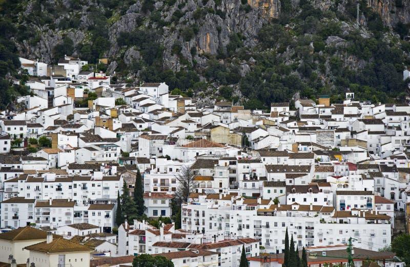 La ville blanche, pueblo blanco, l'Andalousie, Espagne photo libre de droits