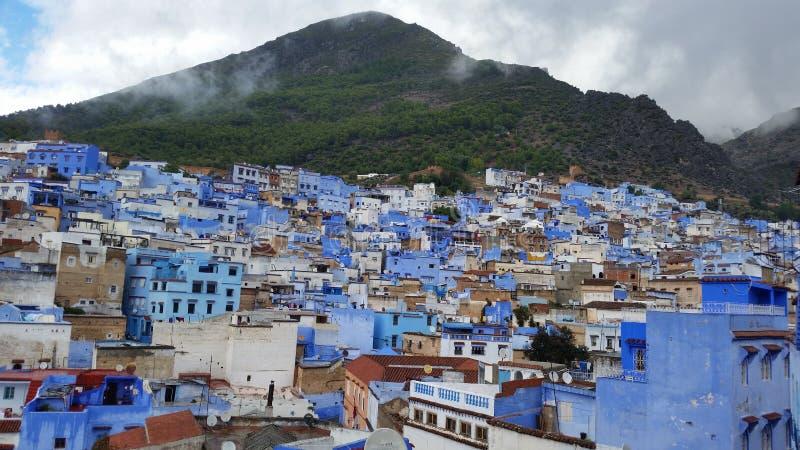 La ville bleue fabuleuse de Chefchaouen, Maroc image stock