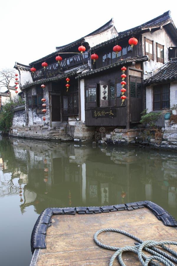 La ville chinoise de l'eau - Xitang 4 photo stock