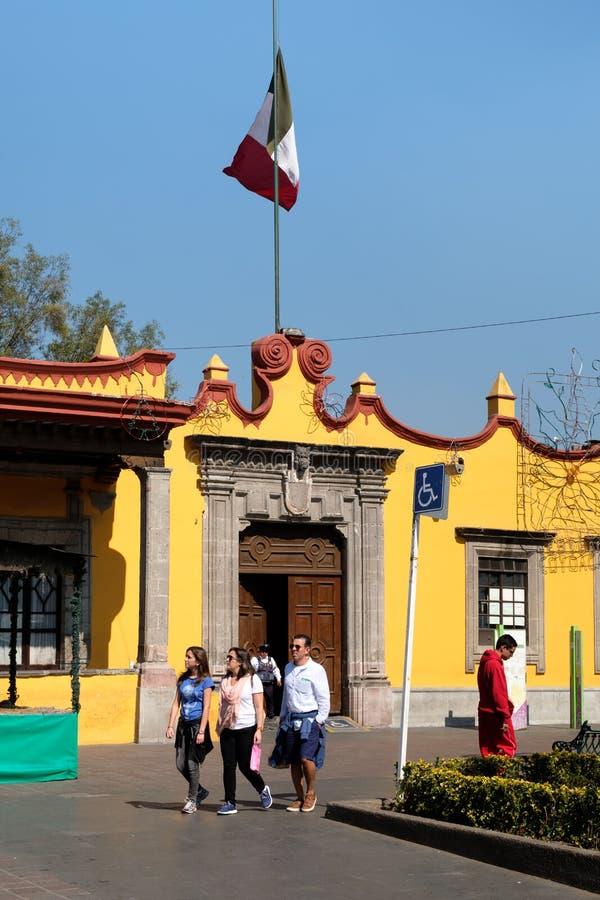 La ville coloniale Hall Palace chez Coyoacan à Mexico photo libre de droits