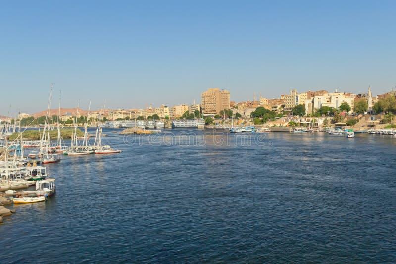 La ville d'Aswan (Nubia, Egypte) image stock