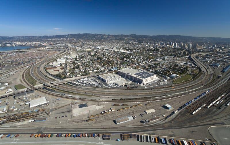 La ville d'Oakland photographie stock