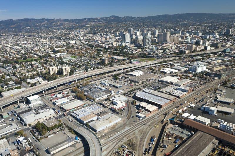 La ville d'Oakland photos libres de droits