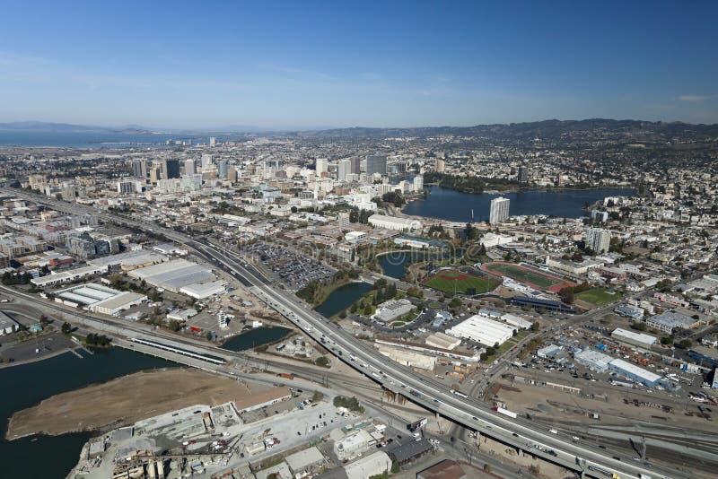 La ville d'Oakland photo libre de droits